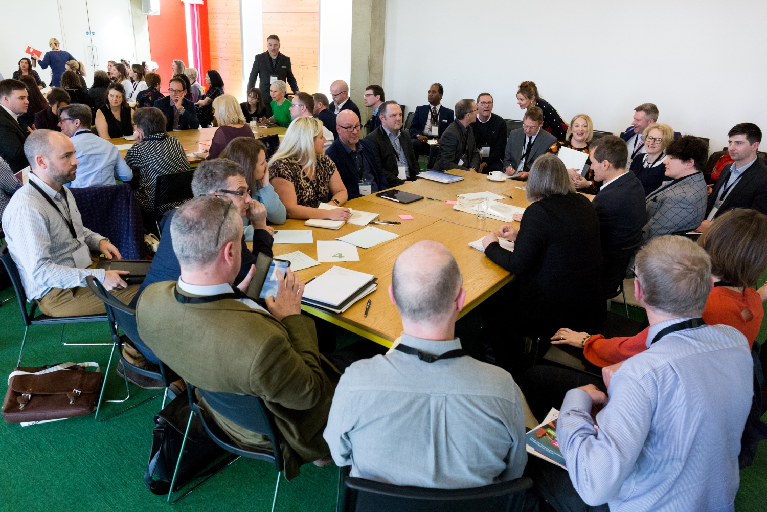 Curriculum leaders at a roundtable discussion